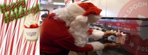 Santa Claus at Golden Spoon frozen yogurt